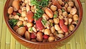 Beans with chickpeas